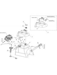 Система питания с погружным насосом с баком топливный С40802210 (0)