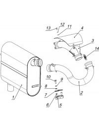 Система выпуска с глушителем С40400200 (0)