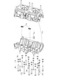 Картер двигателя К20500150 (0)