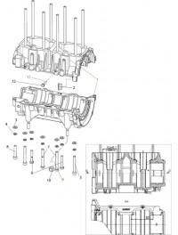 Картер двигателя С40501110 для к/в С40500520 (0)