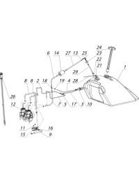 Система питания C40800370-01 (2 карбюратора) (0)