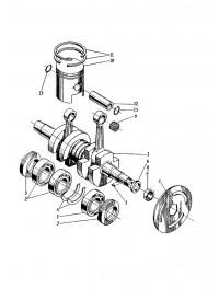 Коленвал с поршнем двигателя 440-02, 432 (0)