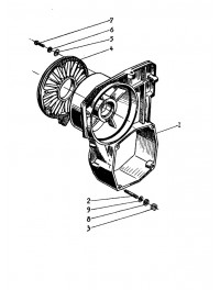 Корпус вентилятора двигателей 440-02, 432 (0)
