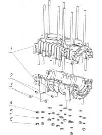 Картер двигателя 110500110 со шпильками (6)