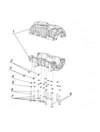 Картер двигателя с болтами (0)